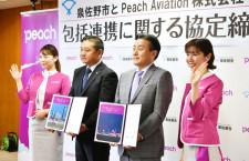 泉佐野市、ふるさと納税にピーチポイント復活へ ピーチと連携協定締結