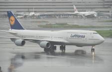 バッハ会長、来日はルフトハンザの旧塗装747-8