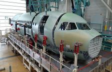 A321XLR、前部胴体の組立開始 23年就航