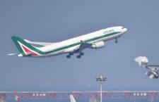 アリタリア、羽田からローマ初便出発