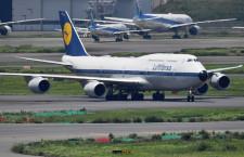 ルフトハンザ、レトロ塗装747-8が羽田飛来 再開後初、1年4カ月ぶり