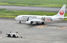 JAL、沖縄・奄美の世界遺産登録で特別塗装機 初便は奄美へ