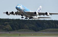 ANAのA380、北海道内を遊覧飛行 新千歳発着で373人参加