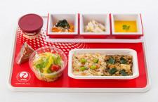 JAL、国際線エコノミー機内食リニューアル 食品ロス削減などテーマ