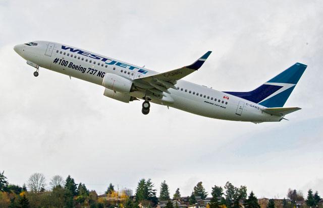 ウエストジェット、100機目の次世代737導入