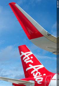 エアアジアのA320に装備されたシャークレット=12年12月 PHOTO: H. Gousse, em company/Airbus