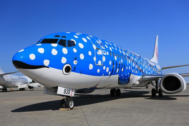 日本トランスオーシャン航空のジンベエジェット(JTAの資料から)