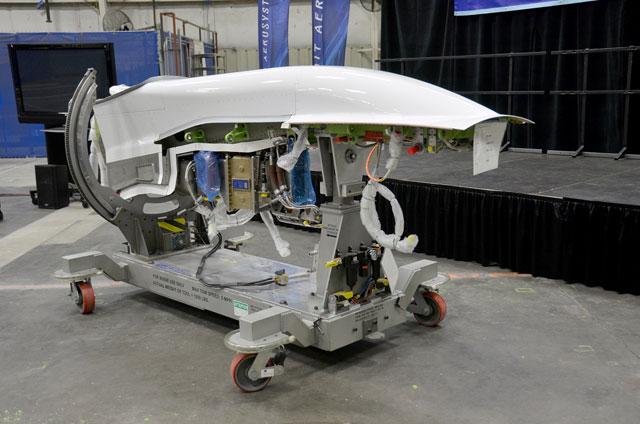 スピリット、MRJ向けパイロン初出荷