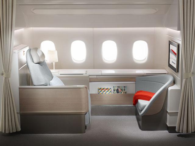 エールフランス航空の新ファーストクラス「ラ・プルミエール」(同社提供) ...  エールフランス