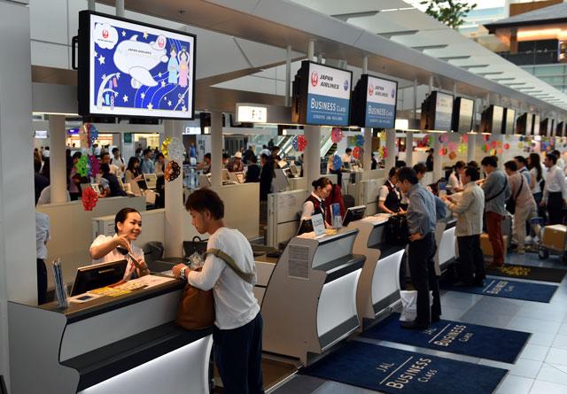 羽田国際線ターミナルで七夕イベント JALは限定搭乗券