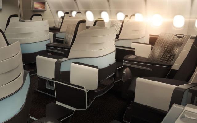 ハワイアン航空、a330に新ビジネスクラス 16年からフルフラット導入