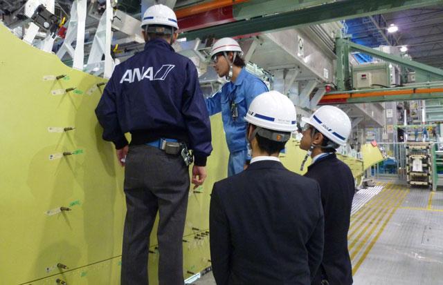 ANA、MRJの領収検査開始 主翼骨...