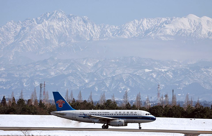 中国南方航空、富山-大連増便 6年ぶり週3往復