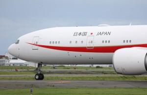 千歳基地に向かう次期政府専用機=18年8月17日 PHOTO: Shota DOKI/Aviation Wire