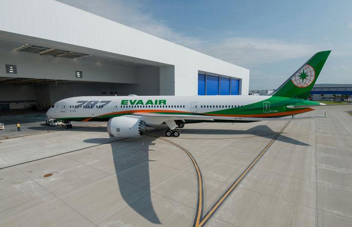 エバー航空、台湾初の787 日本路線にも投入