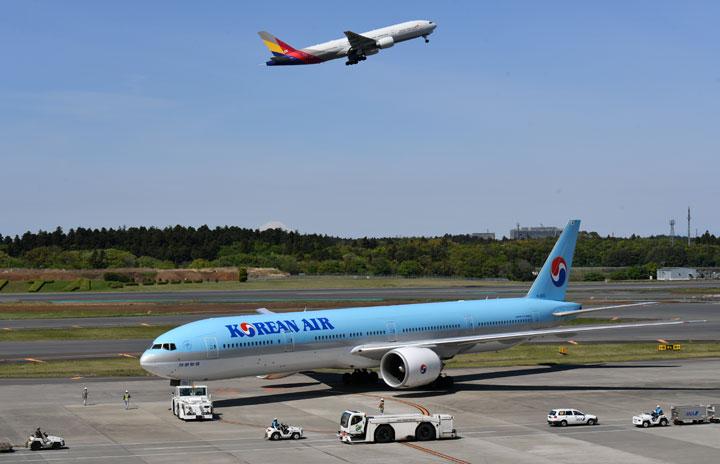大韓航空、アシアナ航空とスルーチェックイン 出発地で乗継ぎ便手続き
