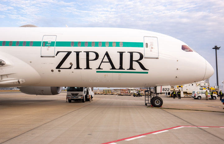 ZIPAIR、スマホで機内食注文 機内Wi-Fi活用、LCC初セルフオーダー導入