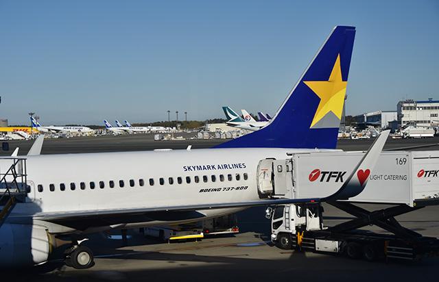 出発を待つスカイマークのサイパン行きBC811便初便=19年11月29日 PHOTO: Yusuke KOHASE/Aviation Wire