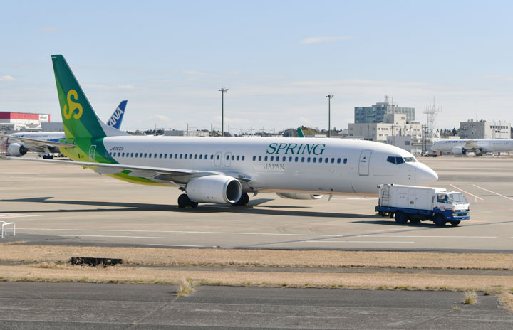 春秋航空日本、国内3路線は週末継続 1月末まで
