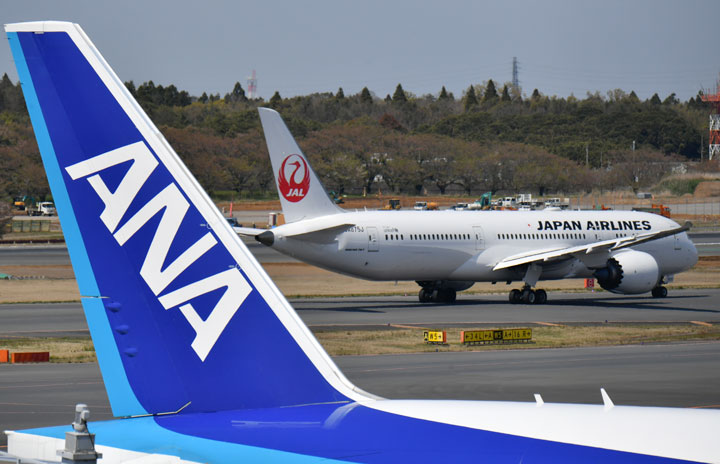 ANAとJAL、1-2月国際線は現状維持 ビジネス入国停止