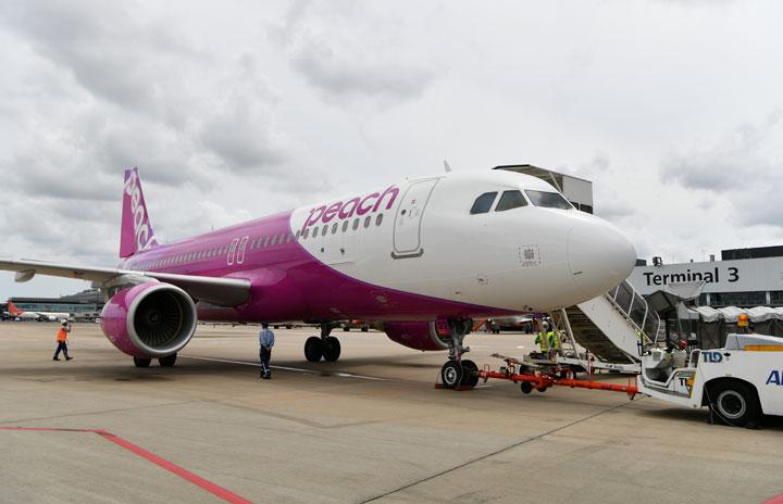 ピーチ、国内全便7月再開へ 段階的に減便解消、8月に増便も