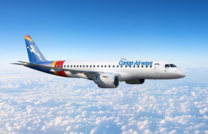 コンゴ・エアウェイズ、E190-E2導入へ E175から機種変更、22年受領