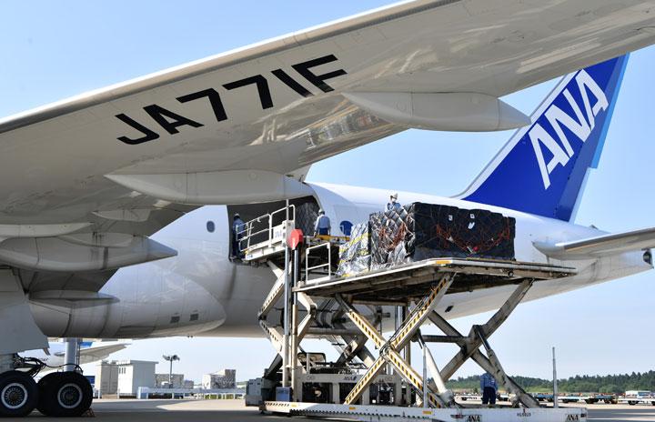 ANA、成田-フランクフルト貨物臨時便 777F大型貨物機で