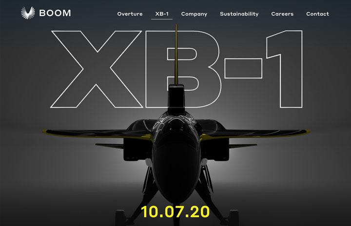 Boom、超音速実証機XB-1を10月ロールアウト 21年初飛行へ
