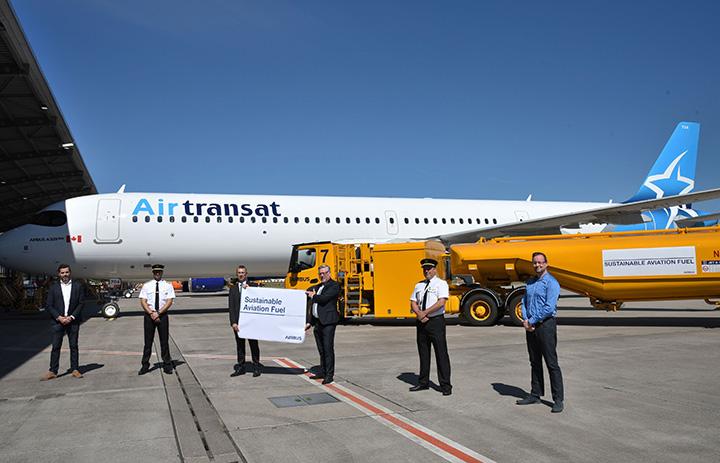 エアバス、ハンブルクでも持続可能燃料 エア・トランザット向けA321LR