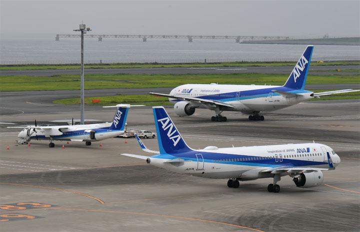 ANAの国内線、1月減便率35%に 60路線2698便減便