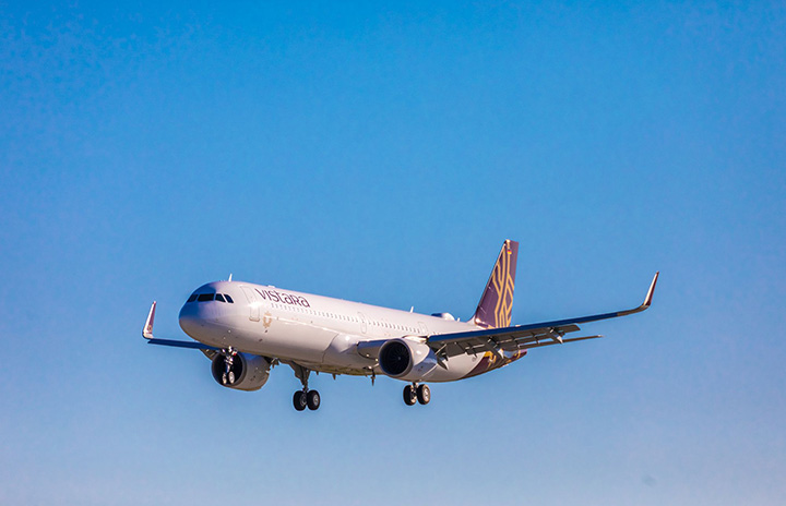 印ビスタラ、A321neo初号機受領 ビジネスはフルラット
