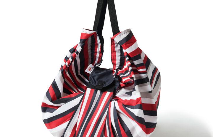 JAL、CA制服スカーフ柄のエコバッグ