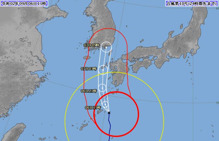 台風10号、6日は欠航350便超 7日は対象拡大