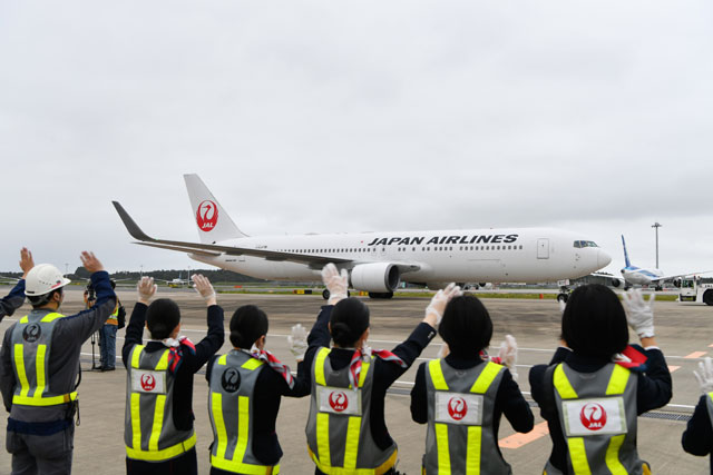 JAL、成田発着ブルームーンフライト 31日に国際線767チャーター第2弾