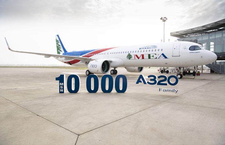 1万機目のA320ファミリー、ミドル・イースト航空が受領 A321neo