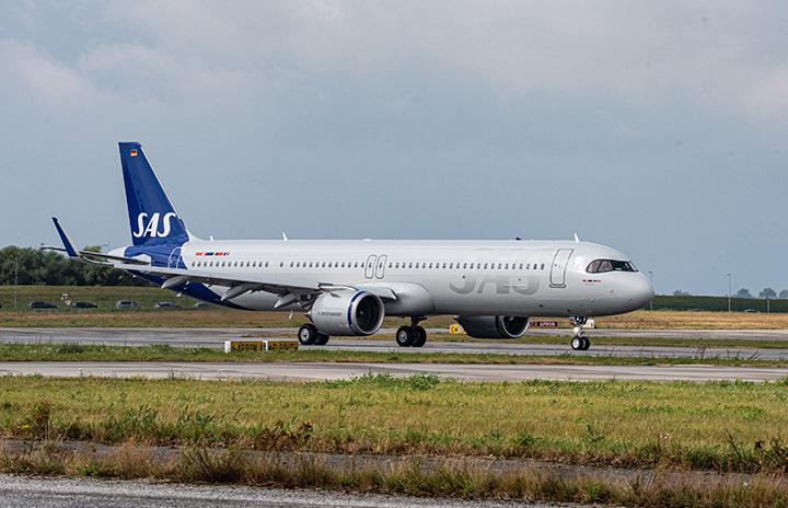 スカンジナビア航空、A321LR導入 同社向け初号機