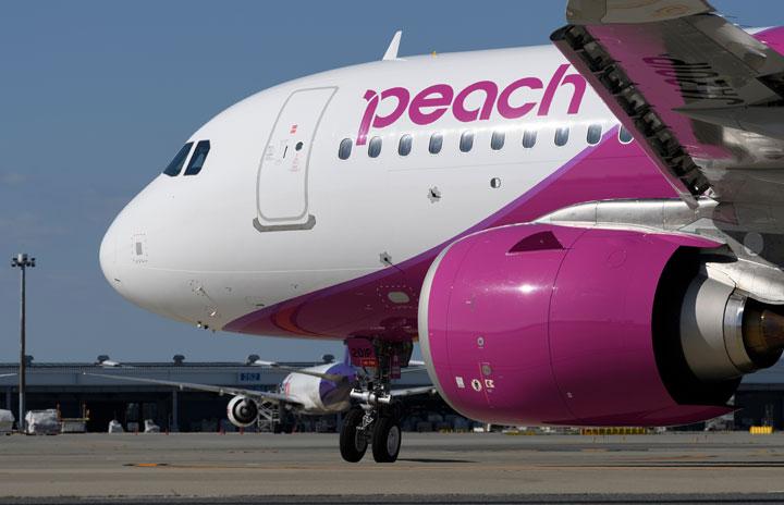 ピーチ、A320neo就航 燃費2割改善、リクライニング済みシート