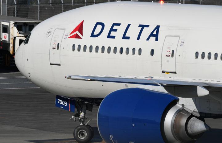 デルタ航空、中央席ブロック継続 4月末まで