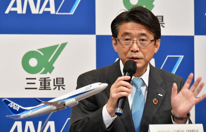 ANA片野坂HD社長「影響は軽微」 三菱スペースジェット、納期「説明いただいていない」