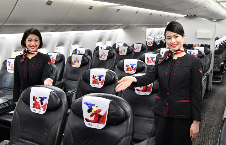 JAL、ディズニー『ファンタジア』80周年の特別塗装機公開