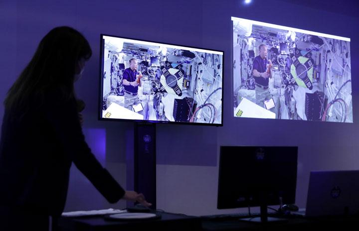 宇宙ステーション「きぼう」のアバター、虎ノ門ヒルズから遠隔操作 ANAとJAXAが体験会