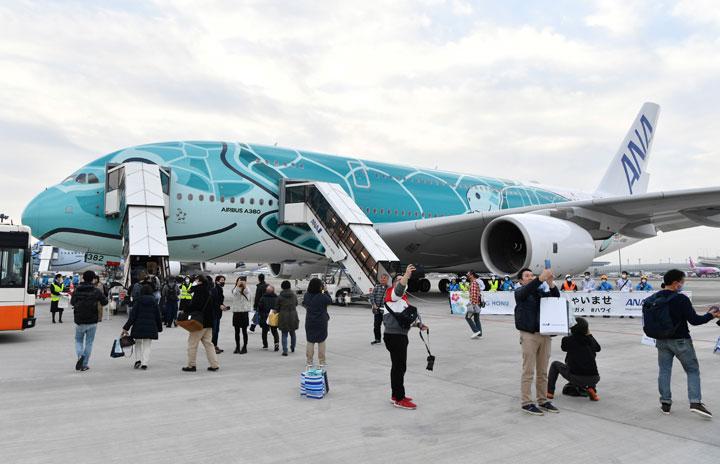 ANA、A380でクリスマス前の遊覧飛行 成田発着で機内食や夜景も
