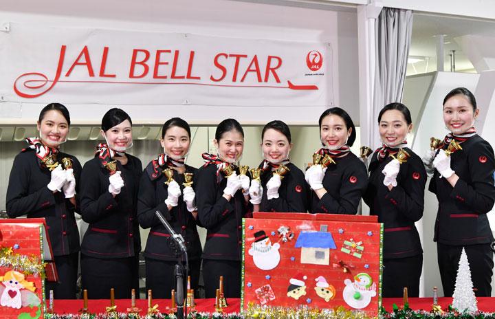 JALのCA、クリスマスにハンドベル演奏アンコール生配信