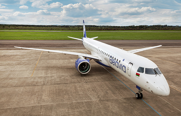 ベラヴィア航空、E195-E2初号機受領