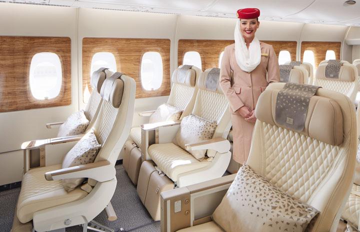 エミレーツ航空、A380にプレエコ 新仕様機に56席