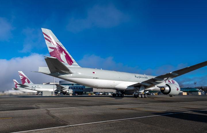 カタール航空、777F貨物機を3機受領