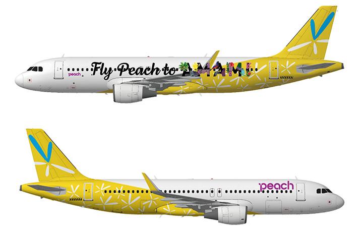 """ピーチ、バニラデザイン残した特別塗装機 """"黄色い""""A320再び"""