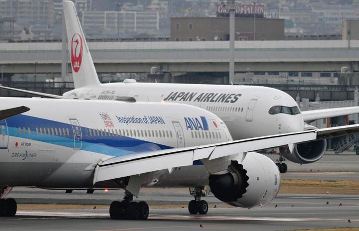 JALとANA、「まん延防止措置」で手数料免除 伊丹や仙台など3府県発着便