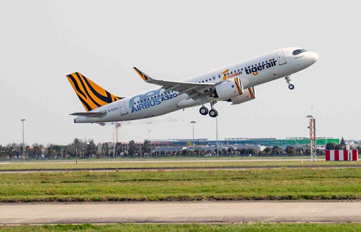 タイガーエア台湾、A320neo初受領