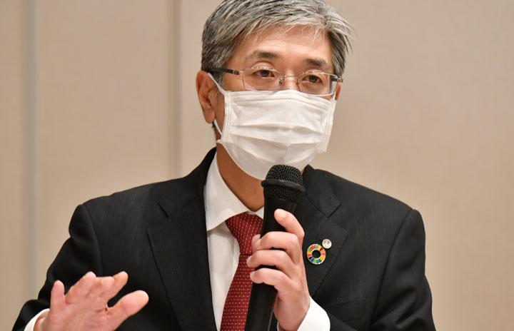 JAL赤坂社長、日豪JV実現「かなり厳しい」 カンタスと関係強化も